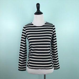 J. Crew XS Side Seam Sailor Top Black Stripes